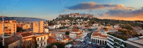 Printed kitchen splashbacks Athens Athens skyline rooftop panorama sunset
