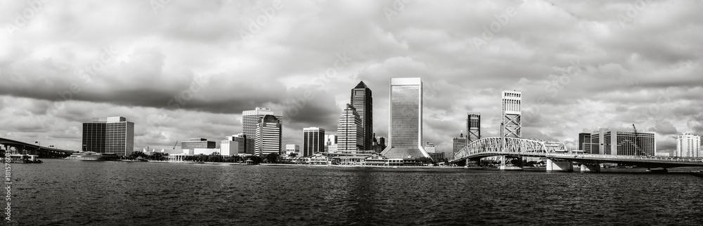 Fototapeta Jacksonville Skyline in Florida.