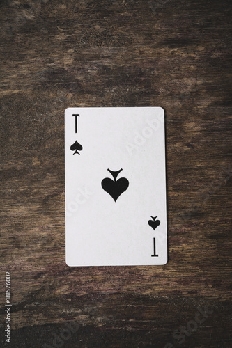 Ace of spades playing card плакат