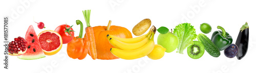 Deurstickers Keuken Color fruits and vegetables