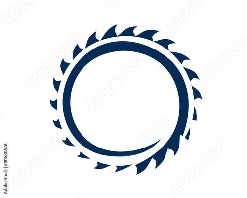 Leinwand Poster circular saw blade illustration, icon design, isolated on white background