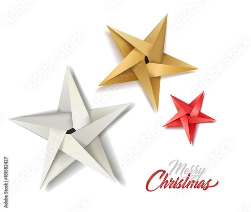 Obraz vector christmas holiday decoration stars - fototapety do salonu