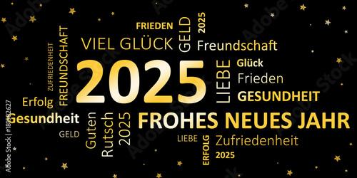 Poster  Glückwunschkarte Silvester 2025 - Guten Rutsch und ein frohes neues Jahr