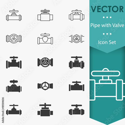 Photo  Valve icons vector