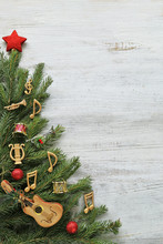 Christmas Tree Branches With M...