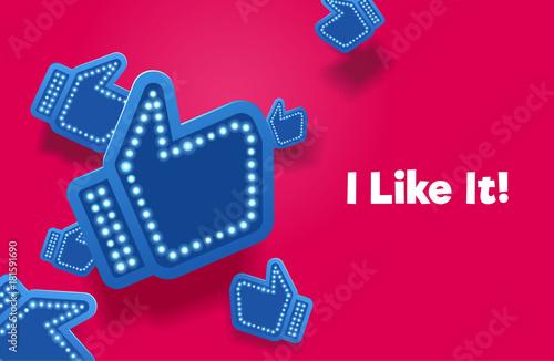 Icons like social network are falling down Fototapet