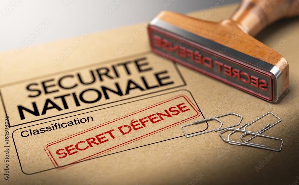 Fototapeta Informations secètes, sureté de l'état. Classification secret défense