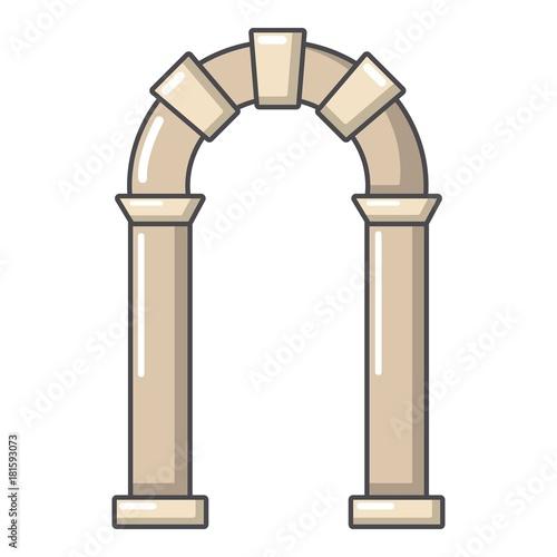 Archway ancient icon, cartoon style Fototapeta