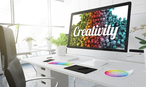 Obraz 3d creativity studio - fototapety do salonu