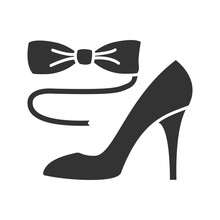Bow Tie And High Heel Shoe Gly...