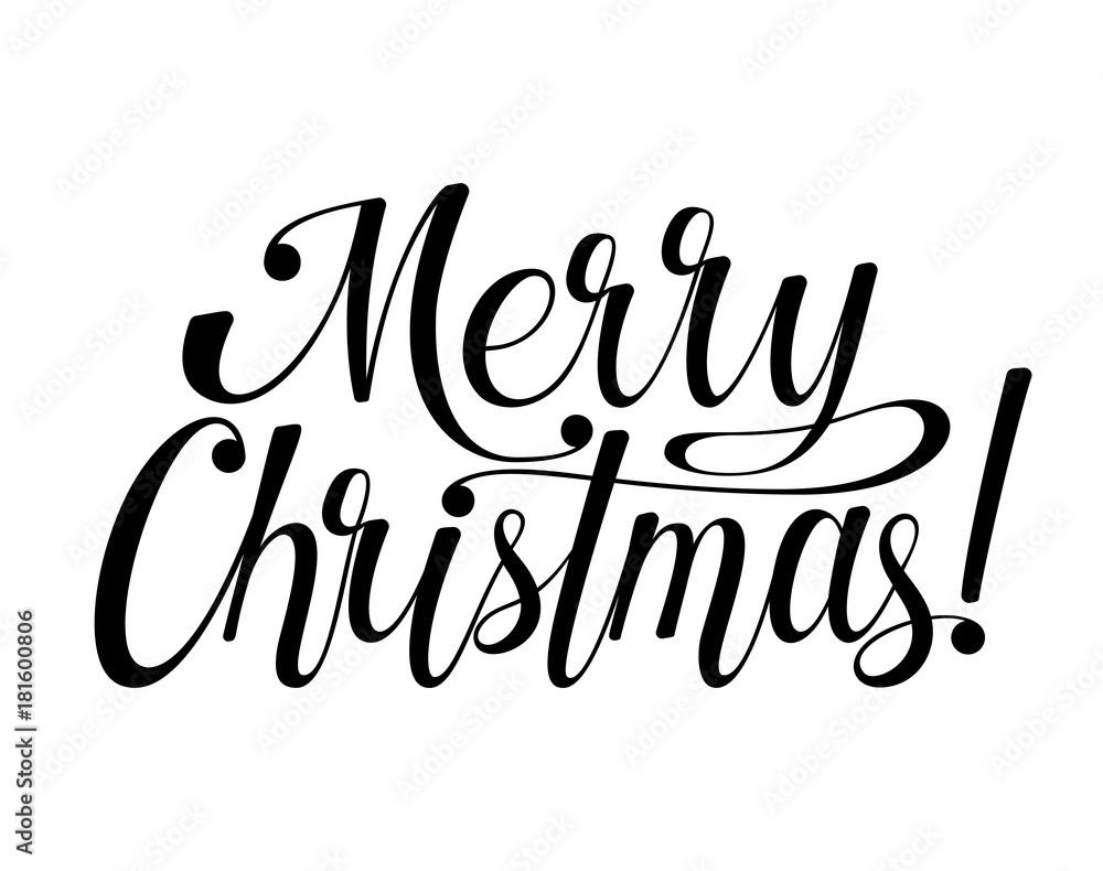 Merry Christmas Lettering.Valokuva Merry Christmas Lettering Tilaa Netista