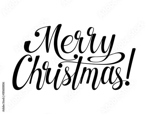 Photo  Merry Christmas lettering