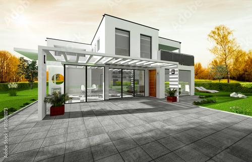 Fotografia, Obraz  Projet de construction d'une maison d'architecte
