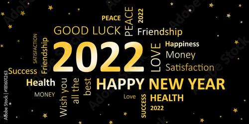 Fotografia  Happy new year 2022 Wünsche