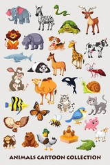 Animals cartoon collection for kids.