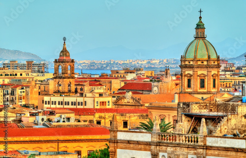 Palermo as seen from the roof of the Cathedral - Sicily