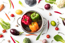 Colander With Colored Bell Pep...
