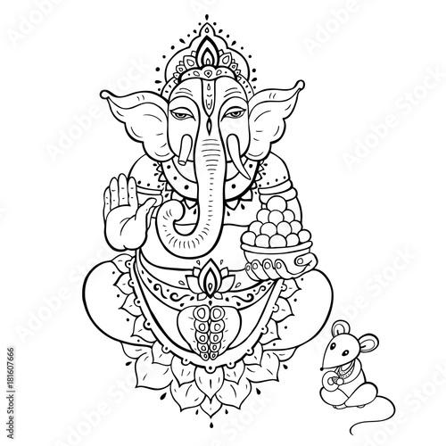 Fotografiet  Ganapati. Lord Ganesha