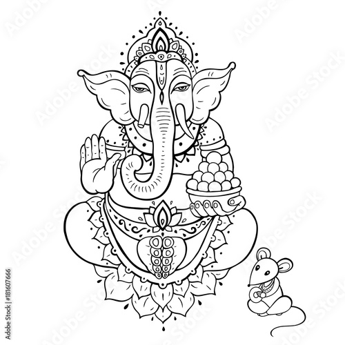 Ganapati. Lord Ganesha Wallpaper Mural