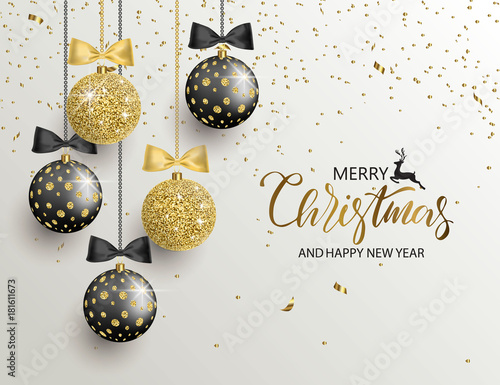 merry christmas and happy new year background for holiday greeting card invitation party flyer