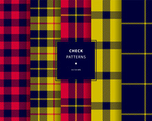 Check Seamless Patterns Set