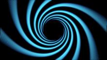 Cyan Spiral Texture. Swirl Abs...