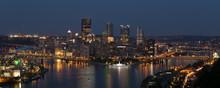 Pittsburgh Skyline Sunset Twil...