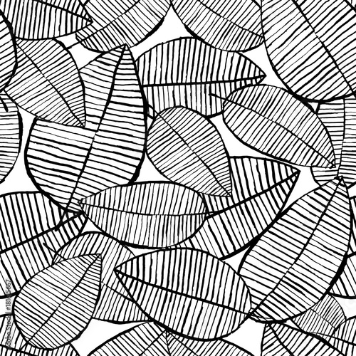 vector-seamless-leaf-pattern-black-and-white-background-made-with-watercolor-ink-and-marker-trendy-scandinavian-design-concept-for-fashion-textile-print-nature-illustration