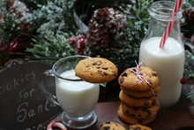 Chocolate Chip Cookies Milk An...