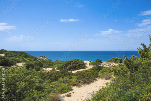 dune system of Piscinas in Sardinia, Italy Canvas Print