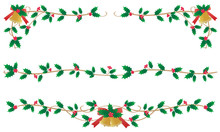 クリスマスのフレーム ヒイラギ