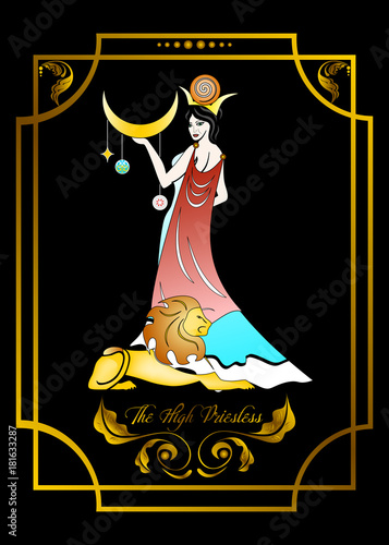 Fotomural the priestess card