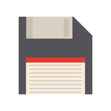 Floppy Diskette Icon Over Whit...