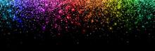 Colorful Glittering Confetti, ...