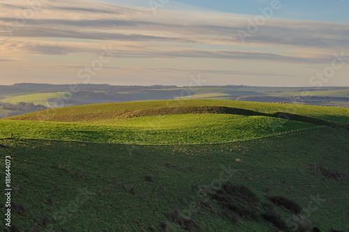 Tuinposter Donkergrijs Sussex Rolling Landscape