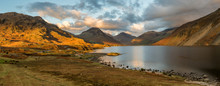 Moody Evening Light At Wastwater In The English Lake District.