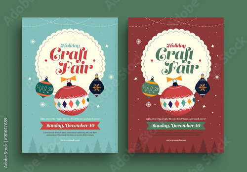 Christmas Craft Show Flyer.Retro Holiday Craft Fair Flyer Buy This Stock Template And