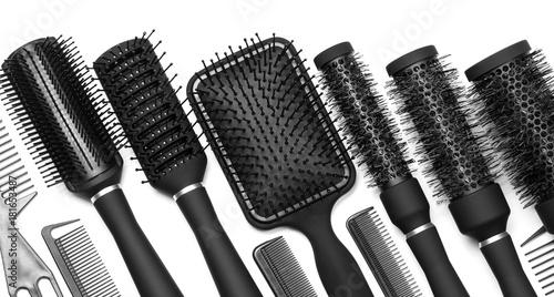 Obraz na plátně  Hairdressing tools on white