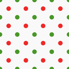 Red And Green Polka Dot Pattern