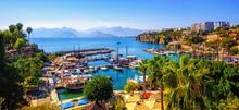 Panorama Of The Antalya Old Town Port, Turkey