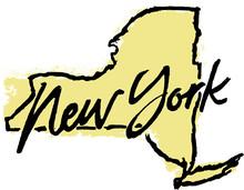 Hand Drawn New York State Design