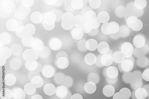 Fototapety, obrazy: silver and white bokeh lights defocused. abstract background