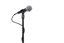 Microphone With Stand Isolated...