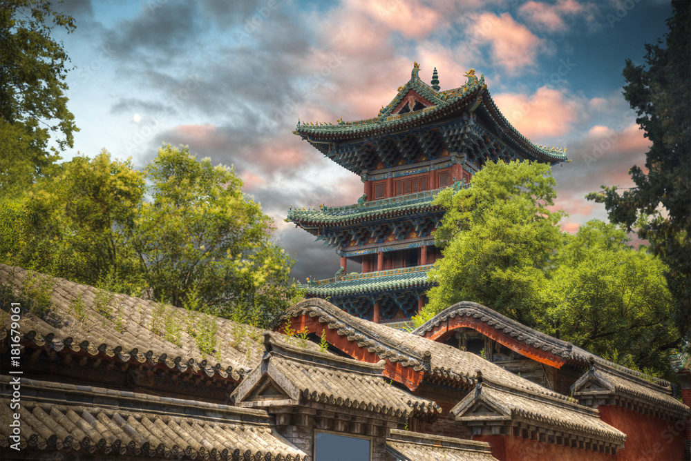 Fototapety, obrazy: Shaolin is a Buddhist monastery in central China.