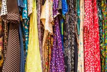 Retro Dresses In A Market