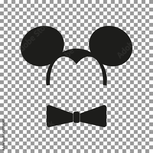 Fotografie, Obraz  Mouse sticker vector.