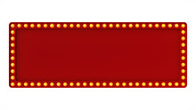 Red Marquee Light Board Sign R...