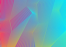 Colorful Curved Lines Pattern ...