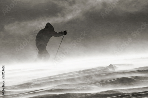 against the wind, Hardangervidda, skitur, nostalgi, norway, polar, against the w Canvas Print