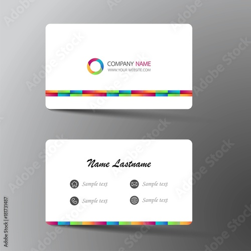 Modern Business Card Template Design With Inspiration From The